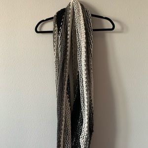 Grey and Black Infinity Scarf